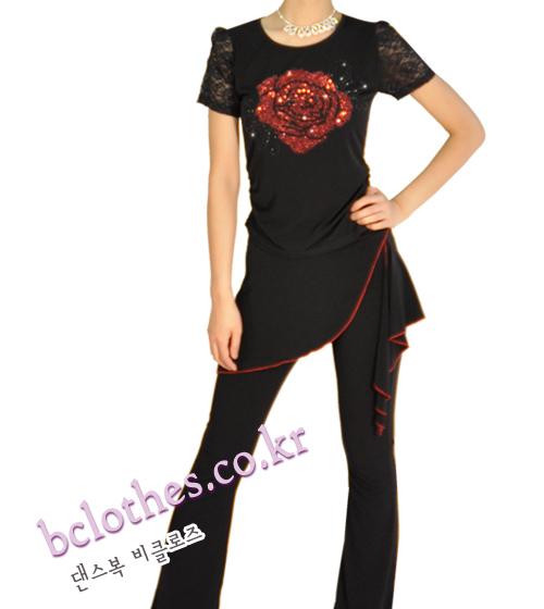 댄스복 비클로즈 라틴댄스, 방송댄스, 라인 댄스, 단체 댄스 바지세트