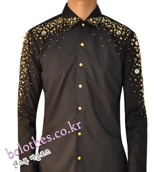 댄스복 비클로즈 남자 와이셔츠 모던, 왈츠, 라틴 남자댄스복